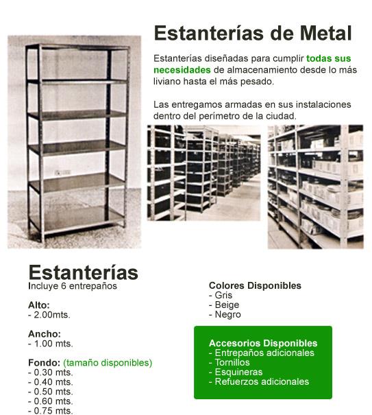 Estanterias de metal muebles aurora pictures - Muebles de metal ...